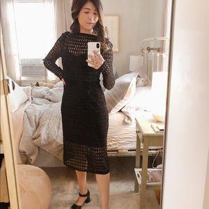 Nanette Lepore Black Dress w Slip, 0 2